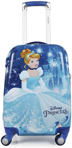 Humty Dumty Disney Cinderella Blue Polycarbonate 22 inch / 55.8 cm Kids Hard Luggage Trolley Bag | Travel Bag