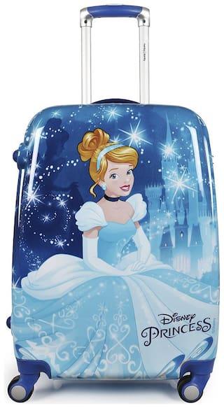 Humty Dumty Original Licensed Disney Cinderella Kids Trolley Bag;Travel Bag;Polycarbonate Hard Luggage 22 Inch/55.9 cm (Blue)