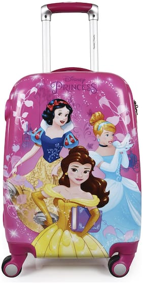 Humty Dumty Original Licensed Disney Princess Group Kids Trolley Bag;Travel Bag;Polycarbonate Hard Luggage 18 Inch/45.7 cm (Pink)