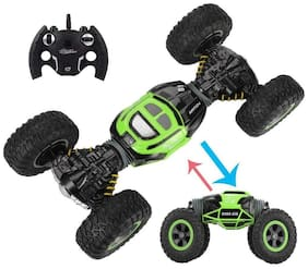Hyper Tumble Double Sided Flip Remote Controlled Transformation Both Side Drive Stunt Car (Multicolour)