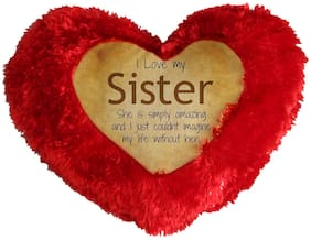 I Love Sister Cushion Cover By Mugshug