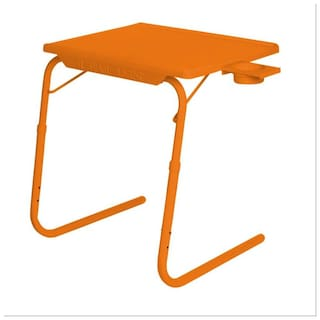 IBS Tablemate Orange Adjustable Folding Table With Cupholder