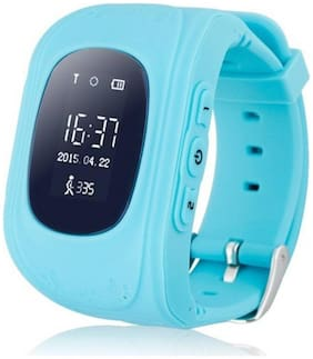 IBS Smart Phone Watch Children Kid Wristwatch Q50 GSM GPRS GPS Locator Tracker 17 Anti-Lost Child Guard for iOS Android Multicolour Smartwatch (Multicolor Strap Regular)