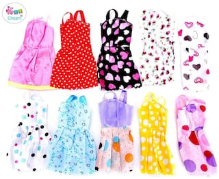 iDream Beautiful Handmade Party Dress Fashion Clothes for Barbie Doll (Pack of 10)