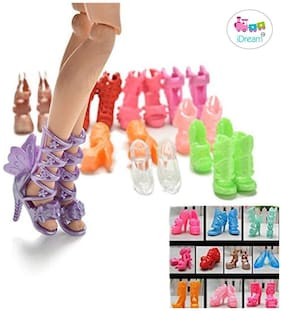 iDream Doll Accessories - Doll Shoes (Pack of 10)