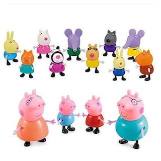 iDream Pig Family & Friends - Action Figure Toy - (14 pcs/Set)