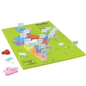 Imagimake: Mapology India With State Capitals  Learn Indian States Along With Capital- Fun Jigsaw Puzzle   Educational Toy For Kids Above 5 Years.