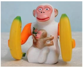 Imported Banana Monkey Do Stunts And Jumping- Battery Operated