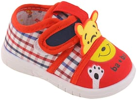Enso Red Casual Shoes For Infants