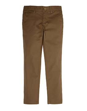 Indian Terrain Boy Solid Trousers - Brown