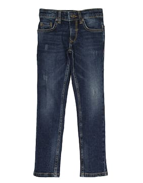 Indian Terrain Boy Solid Jeans - Blue