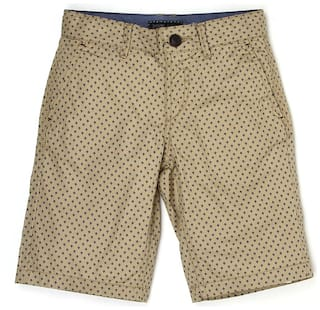 9bbbf55d0 Buy Indian Terrain Boys Brown Self Shorts Online at Low Prices in ...