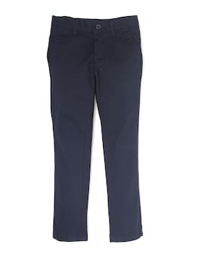 Indian Terrain Boy Solid Trousers - Blue