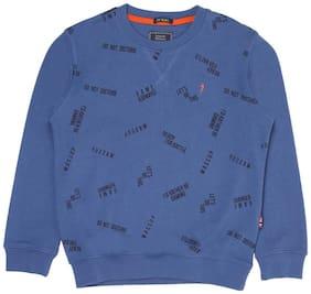 Indian Terrain Boy Cotton Printed Sweatshirt - Blue