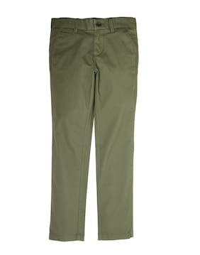Indian Terrain Boy Solid Trousers - Green