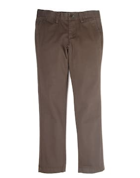 Indian Terrain Boy Solid Trousers - Grey