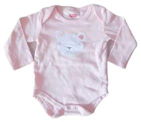 Indirang Unisex Cotton Printed Romper - Pink