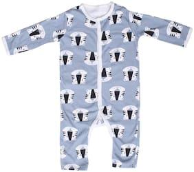 Indirang Unisex Cotton Printed Jumpsuit - Blue