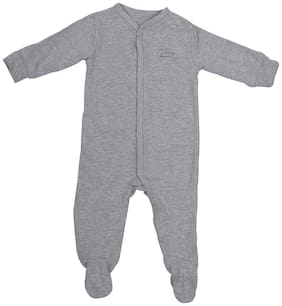 Indirang Baby boy Cotton Printed Body suit - Grey