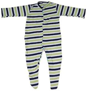 Indirang Baby boy Cotton Solid Romper - Multi
