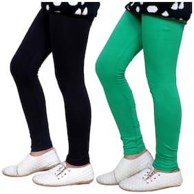 IndiStar Cotton Solid Leggings - Black