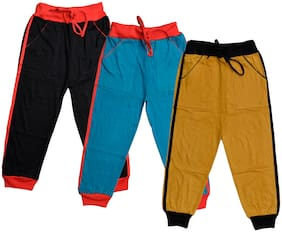 IndiStar Boys Plain Cotton Lowers (Pack of 3)(Multi)