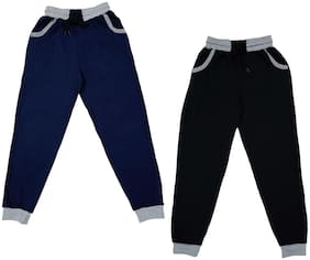 IndiStar Boy Cotton Track pants - Blue & Black