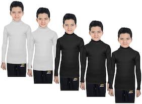 IndiStar Boy Wool Solid Sweater - Multi