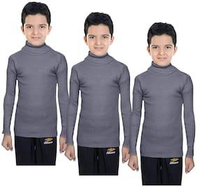 IndiStar Boy Wool Solid Sweater - Grey