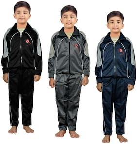 IndiStar Boy Polyester Tracksuit - Multi