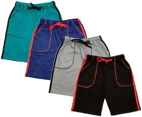 IndiStar Boys Cotton Solid Shorts/Bermuda