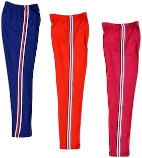 IndiStar Cotton Solid Leggings - Multi