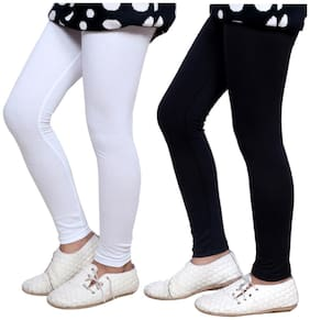 Indistar Girl's Super Soft Cotton Leggings Combo Pack of 2