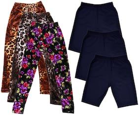 IndiStar Girl Cotton Solid Regular shorts - Multi
