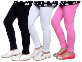 IndiStar Cotton Solid Leggings - Multi