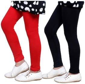 IndiStar Red & Black Super Soft Cotton Leggings