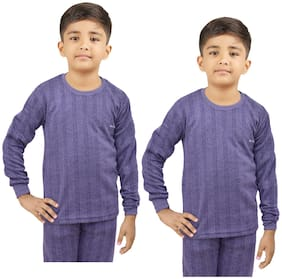 Indiweaves Thermal For Boys - Blue , Set of 2