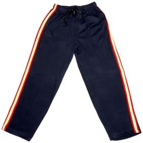 IndiWeaves Boys Premium Cotton Full Length Lower with 2 Open Pocket_Blue::White