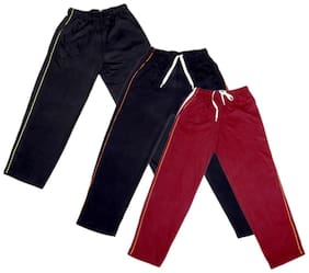 IndiWeaves Boys Premium Cotton Full Length Lower with 2 Open Pocket(Pack of 3)