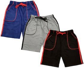Indiweaves Boy Solid Shorts & 3/4ths - Multi