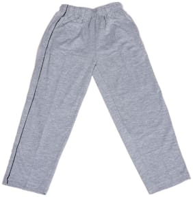 IndiWeaves Boys Premium Cotton Full Length Lower with 2 Open Pocket_Gray