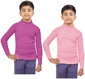Indiweaves Boy Wool Striped Sweater - Pink