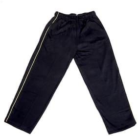 IndiWeaves Boys Premium Cotton Full Length Lower with 2 Open Pocket_Black