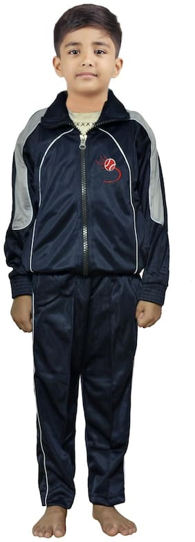 Indiweaves Boy Polyester Tracksuit - Blue