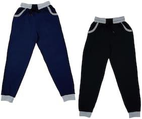 Indiweaves Boy Cotton Track pants - Blue & Black