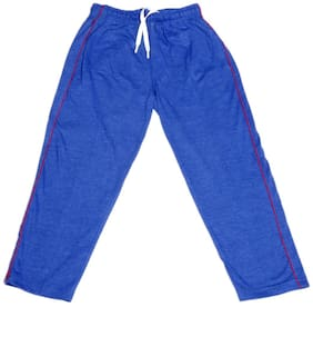 IndiWeaves Boys Premium Cotton Full Length Lower with 2 Open Pocket_Blue