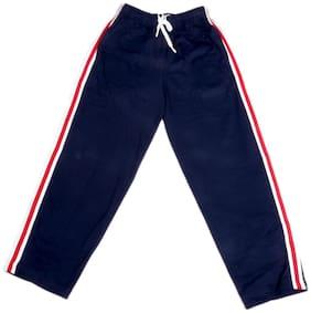 IndiWeaves Boys Premium Cotton Full Length Lower with 2 Open Pocket_White::Blue