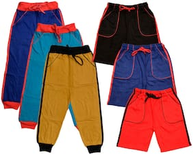 Indiweaves Boy Solid Shorts & 3/4ths - Multi