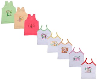 Indiweaves Vest for Girls - Multi , Set of 1