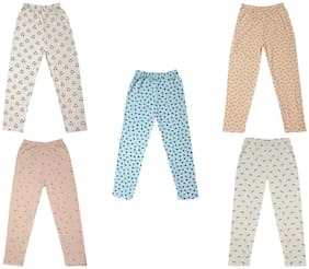 IndiWeaves Girls Cotton Printed Lower Track Pant (Pack of 5)